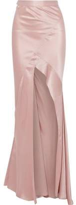 Michelle Mason Split-Front Silk-Satin Maxi Skirt