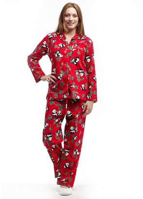La Cera Plus-Size Long Sleeve Flannel PJs - Plus
