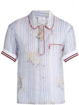 Stella Jean Striped silk-organza shirt