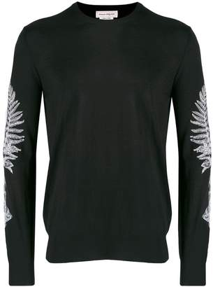 Alexander McQueen Frosted fern crew neck sweater