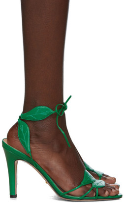 Gucci Green Gianta Leave Heeled Sandals