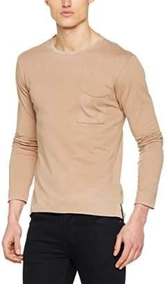 Replay Men's M3514 .000.22326 Long Sleeve Top, (Faded Beige 614)