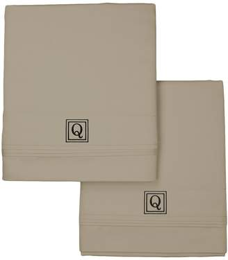 Valentino Luxor Linens 1200 TC Monogram Pillowcase Set (Standard)