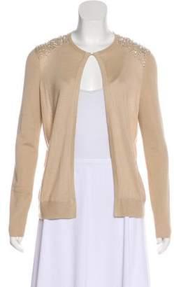 Akris Long Sleeve Cashmere & Silk-Blend Cardigan