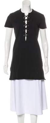 Reformation Short Sleeve Cutout Tunic