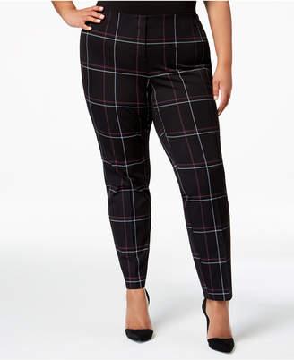 Alfani Plus Size Hollywood Printed Skinny Pants
