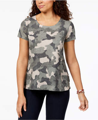 Style&Co. Style & Co Printed T-Shirt, Created for Macy's