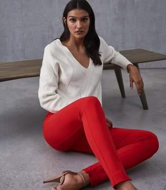 Reiss Tyne - Skinny Trousers in Red