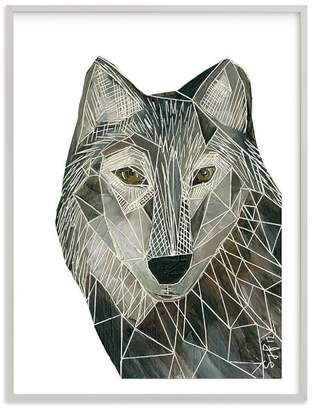 Pottery Barn Teen Senor Wolf, Wall Art by Minted®, 16 x 20, Gray