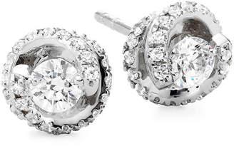 JCPenney FINE JEWELRY 1/2 CT. T.W. Diamond Spiral 10K White Gold Stud Earrings
