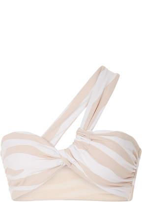 Onia Alise One-Shoulder Printed Bikini Top