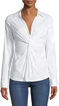 Bailey 44 Tallula Twist-Front Long-Sleeve Shirt