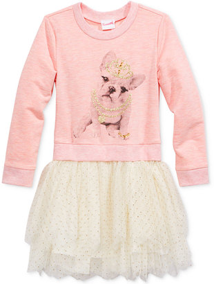 Nannette Girls Pullover Knit & Mesh Dress, Toddler Girls (2T-5T) & Little Girls (2-6X) $54.99 thestylecure.com
