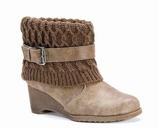 Muk Luks Deena Wedge Bootie - Women's