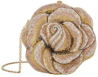 Judith Leiber Embellished Rose Clutch Bag