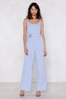 Nasty Gal You Just Might Be Stripe Jumpsuit