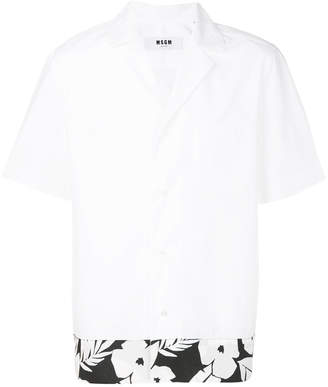 MSGM short sleeve tropical print shirt