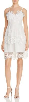 AQUA Lace Trim V-Neck Tiered Dress - 100% Exclusive $88 thestylecure.com