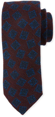 Canali Textured Boxes Wool/Silk Tie