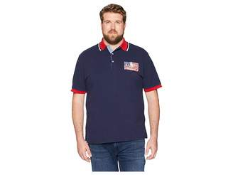 Polo Ralph Lauren Big Tall American Flag Pique Polo