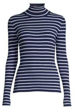 Michael Kors Striped Turtleneck Sweater
