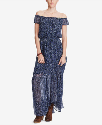 Denim & Supply Ralph Lauren Floral-Print Off-The-Shoulder Maxi Dress $165 thestylecure.com