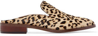 Sam Edelman Crystal-embellished Leopard-print Calf Hair Slippers