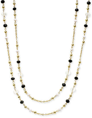 "INC International Concepts Inc Gold-Tone Multi-Bead Long Necklace, 62"" + 3"" extender"