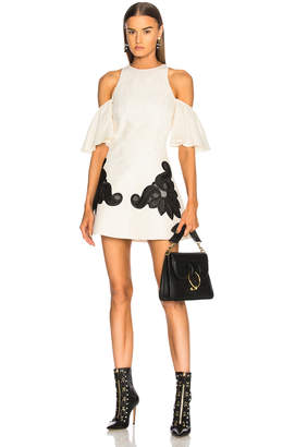 Fausto Puglisi Cold Shoulder Lace Dress
