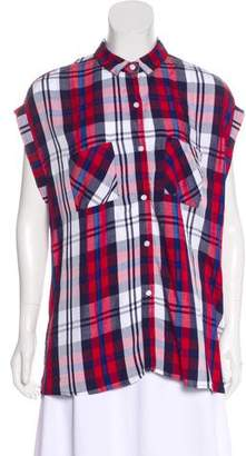 Rails Sleeveless Plaid Button-Up