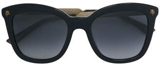 Gucci oversized tiger detail sunglasses