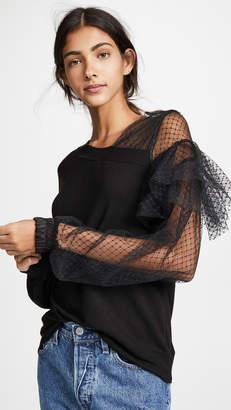 Clu Mesh Sleeve Pullover