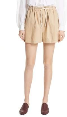 Vince Rope Tie Linen Blend Shorts