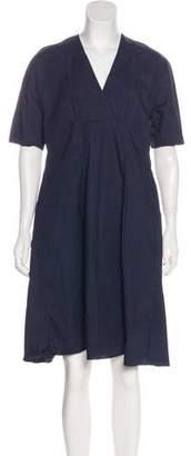 Marni Knee-Length Surplice Dress