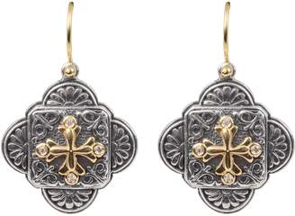 Konstantino Diamond Clover Drop Earrings