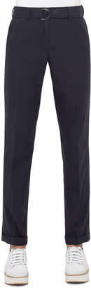 Akris Punto Fallon Straight-Leg Chino Pants, Deep Blue