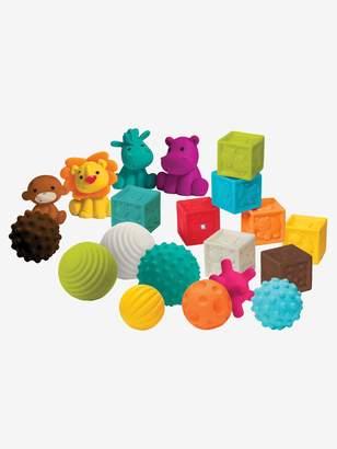 Vertbaudet Bluebox Set of 8 Balls, 4 Animals and 8 Sensorial Cubes