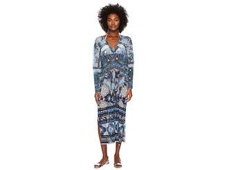 Fuzzi V-Neck Cover-Up Kaftan Batik Women's Swimwear
