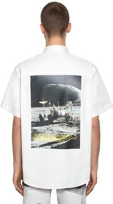 Calvin Klein Established 1978 Moon Landing Print Cotton Blend Shirt