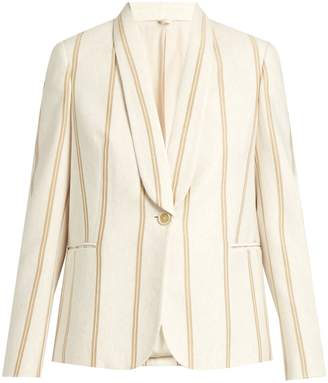 Brunello Cucinelli Striped single-breasted cotton-jersey jacket