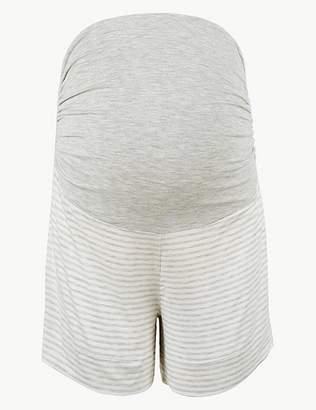 Marks and Spencer Striped Maternity Pyjama Shorts
