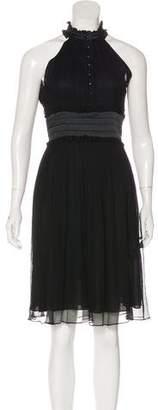 Jasmine Di Milo Silk Ruffle-Accented Midi Dress