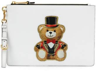 Moschino circus teddy clutch