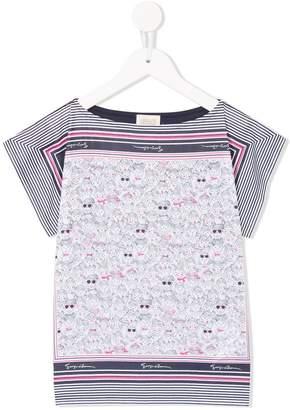 Emporio Armani Kids printed tunic top