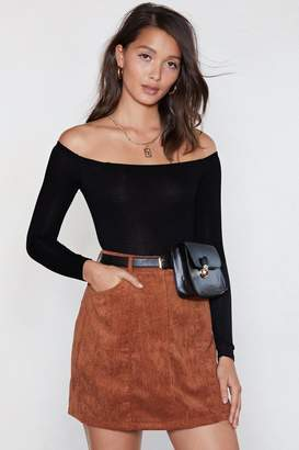Nasty Gal Going Back to Basics Off-the-Shoulder Bodysuit