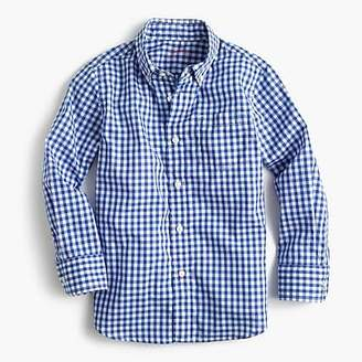 J.Crew Kids' Secret Wash shirt in blue gingham