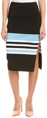 Nicholas Ribbed Knit Midi Skirt
