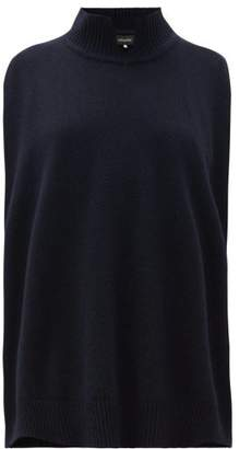 eskandar High Neck Sleeveless Cashmere Sweater - Womens - Navy