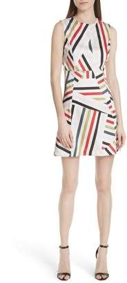 Milly Alexa Drive Stripe A-Line Dress