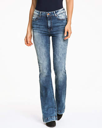 Le Château Stretch Denim Flare Leg Pant